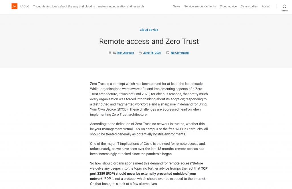 screen shot of Cloud Blog post